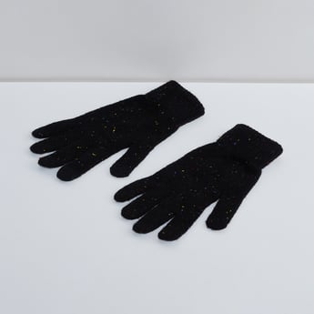 MAX Neps Patterned Knit Gloves