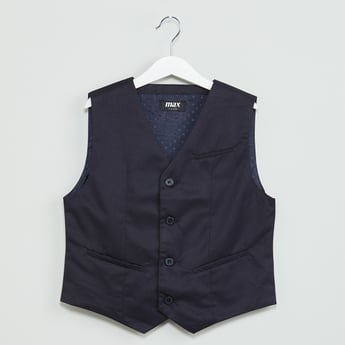 MAX Solid Single Breasted Waistcoat