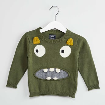 MAX Monster Applique Sweater
