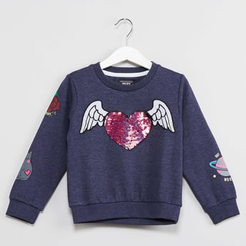 MAX Applique Full Sleeve Sweatshirt