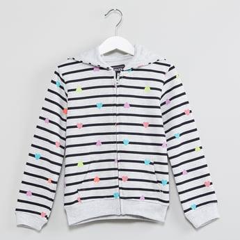 MAX Striped Zip-Up Hooded Sweatshirt