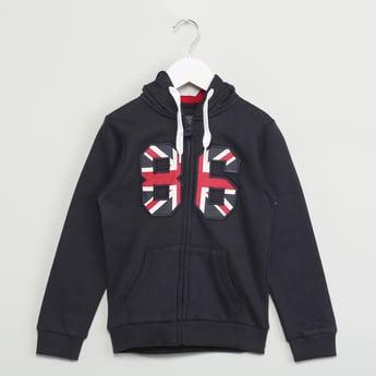 MAX Patchwork Zip-Up Hooded Sweatshirt