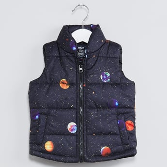 MAX Space Print Quilted Jacket
