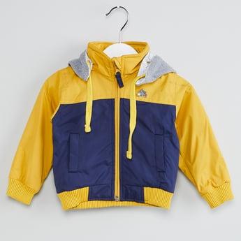MAX Colourblocked Zip-Up Hooded Jacket
