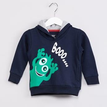MAX Monster Applique Hooded Sweatshirt