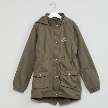MAX Buttoned Hooded Field Jacket