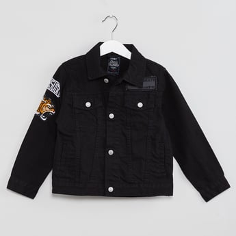 MAX Applique Denim Jacket