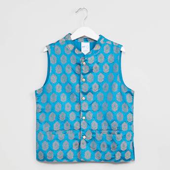 MAX Foil Print Nehru Jacket