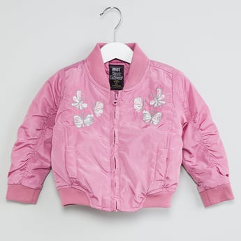MAX Embroidered Baseball Collar Jacket