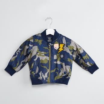 MAX Camouflage Print Padded Bomber Jacket