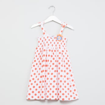 MAX Polka Dot Print Sleeveless Dress