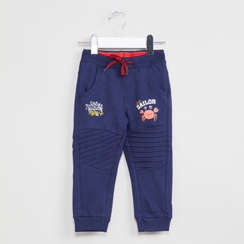 MAX Graphic Print Joggers with Knee Panels