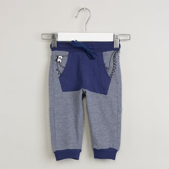 MAX Striped Kangaroo Pocket Joggers