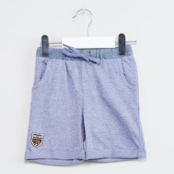 MAX Solid Knitted Shorts with Pockets