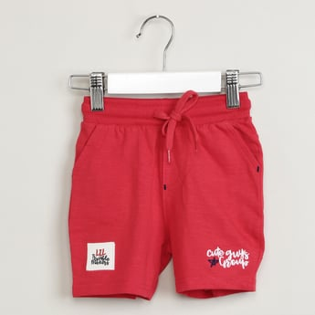 MAX Solid Shorts with Patchwork