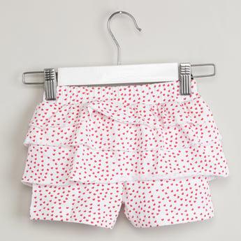 MAX Printed Tiered Shorts