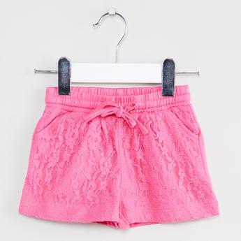 MAX Drawstring Waist Lace Shorts