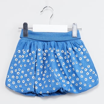 MAX Floral Print Knitted Skirt