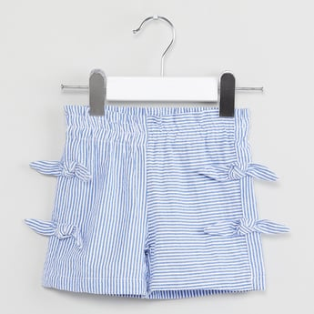 MAX Striped Tie-Up Detail Shorts