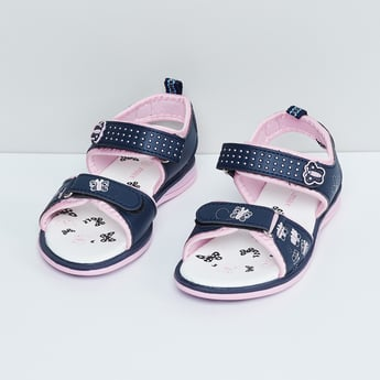 MAX Printed Velcro Closure Sandals