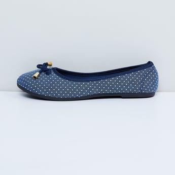 MAX Printed Ballerinas with Bow-Detailing