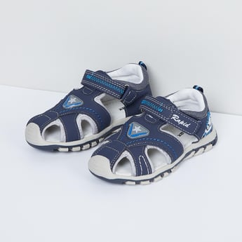 MAX Printed Sandals with Velcro Closure