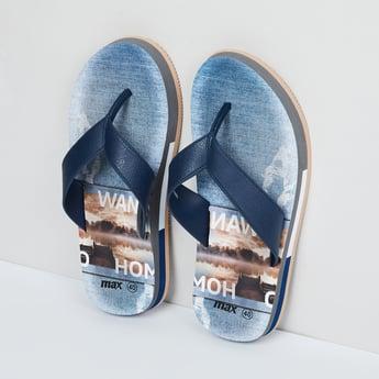 MAX Printed V-strap Slippers