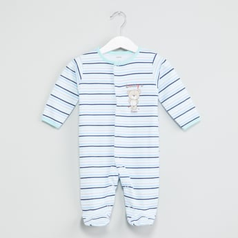 MAX Graphic Print Striped Sleepsuit