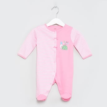MAX Printed Colourblock Sleepsuit