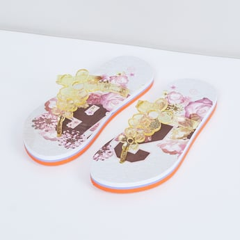 MAX Floral Strapped Slippers
