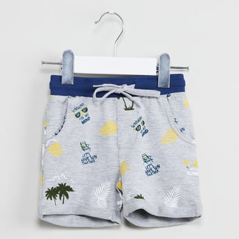 MAX Printed Shorts with Contrast Waistband