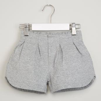 MAX Elasticized Waist Solid Shorts