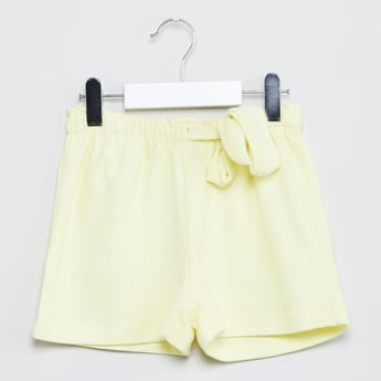 MAX Solid Shorts with Tie-Up Detail