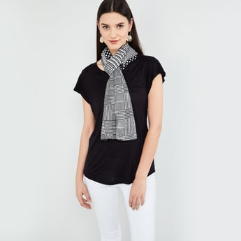 MAX Woven Checked Scarf