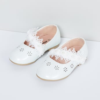 MAX Laser Cut Mary Janes with Crochet