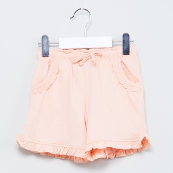 MAX Lace Trim Solid Shorts