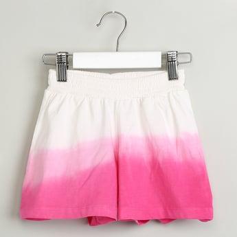 MAX Elasticized Waist Ombre-Dyed Shorts