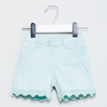 MAX Solid Lace Flat-Front Shorts