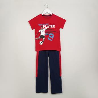 MAX Graphic Print T-shirt & Trackpants Set