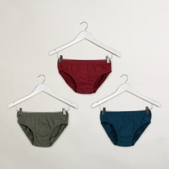 MAX Pack Of 3 Solid Briefs