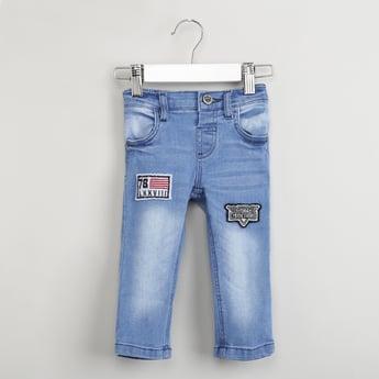 MAX Appliqued Slim Fit Jeans
