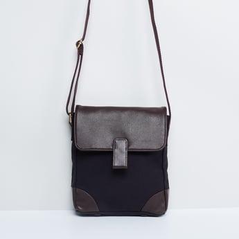 MAX Solid Flap Closure Sling Bag