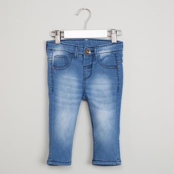 MAX Slim Fit Whiskered Jeans
