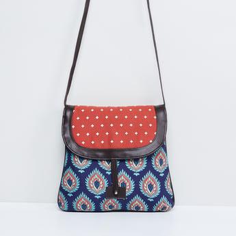 MAX Printed Sling Bag with Flap Closure