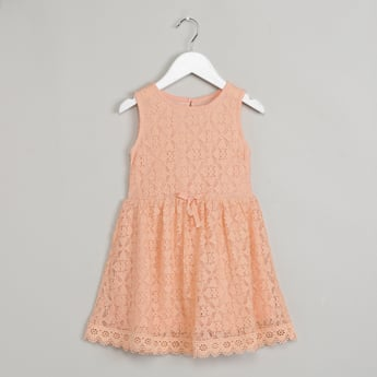 MAX Floral Lace Shift Dress with Sash