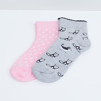 MAX Printed Anklet Socks - Set of 2 Pcs.