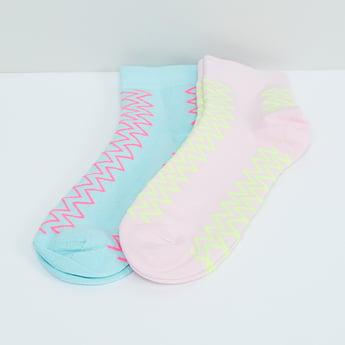 MAX Geometric Print Socks - Pack of 2