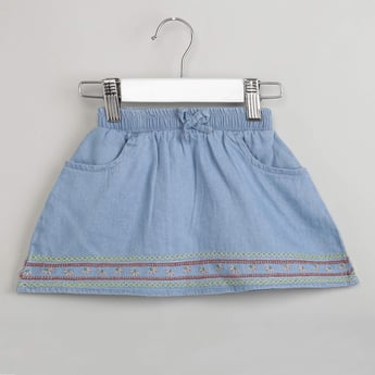 MAX Embroidered Denim Skirt