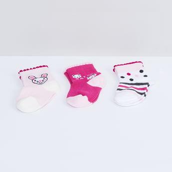 MAX Kitten Print Anklet Socks - Pack of 3 Pcs.