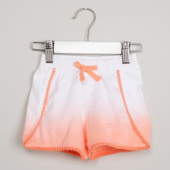 MAX Drawstring Waist Ombre-Dyed Shorts
